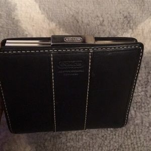 Coach Black Leather Bifold Wallet